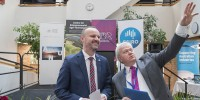 ACT Chief Minister Andrew Barr and ANU VC Brian Schmidt at the opening
