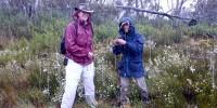 Celeste Linde and Monica Ruibal, orchid sampling