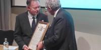 Graham receiving his Rank Prize