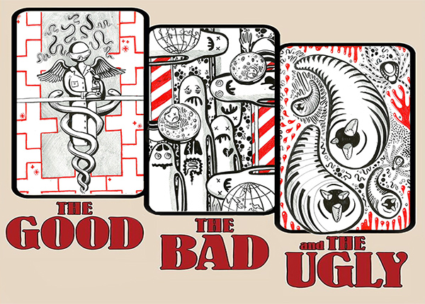 The Good, the Bad & The Ugly parasite poster