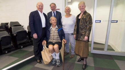 (L-R) ? Adrian Horridge (seated), Graham Farquhar, Susanne von Caemmerer, and Jenny Graves