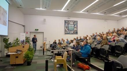 Seminar program, Ben Corry presenting