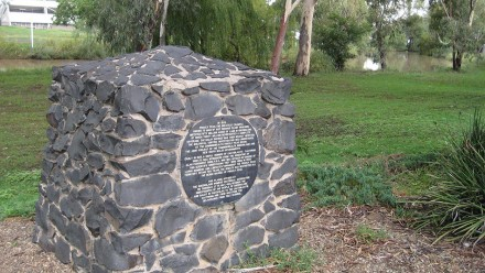 A monument to the Cactoblastis cactorum moth at Dalby, Queensland.